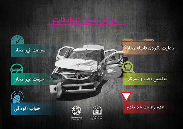 عوامل اصلی تصادفات